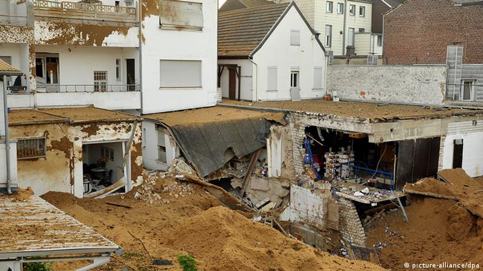 Damaged buildings after a bomb disposal in Viersen, Germany