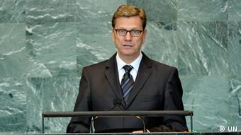 Guido Westerwelle speaking at the Security Council