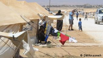 A refugee camp in Jordan