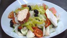 18.09.2012 DW EUROMAXX a la carte Gericht Salat, Griechenland