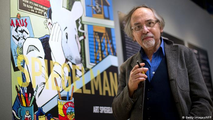 The Swedish-born New Yorker Spiegelman, 62, is known as the creator of 'Maus', an animal fable of his Jewish father's experience in the Holocaust -- the only comic book to have won a Pulitzer Prize, the top US book award, Copyright: BERTRAND LANGLOIS/AFP/Getty Images