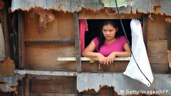 Woman in a shanty town in Manila