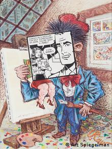 """Comics as a Medium for Self Expression?. Cover, PRINT Magazine. Ink and watercolor on paper. May-June 1981 by Art Spiegelman"