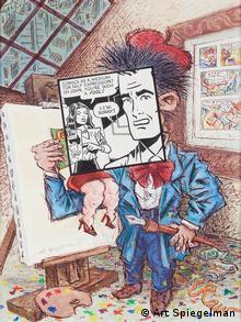 """""""Comics as a Medium for Self Expression?"""". Titelseite für PRINT Magazine. Tuschezeichnung mit Wasserfarben. (Foto: Wallraf Richartz Museum)"""