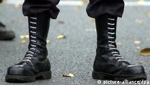 Neo-Nazi boots. (picture: Bernd Thissen dpa/lnw)