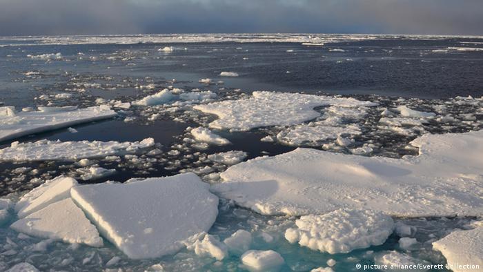 Ice breaking apart in the Arctic