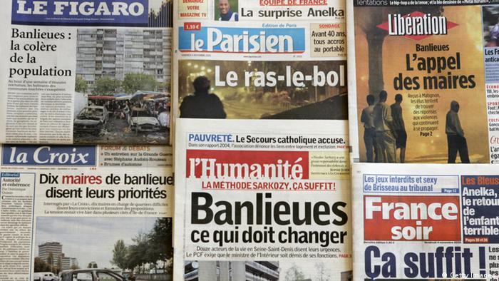 Frankreich Paris Unruhen in Banlieues 2005