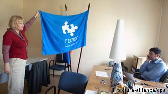 MItarbeiter der russischen NGO Golos in ihrem Büro (Foto: ITAR-TASS/ Alexandra Krasnova)