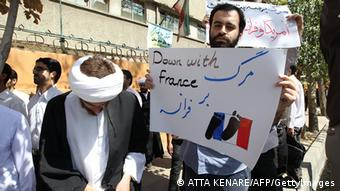 Iranian demonstrators (picture: ATTA KENARE/AFP/GettyImages)