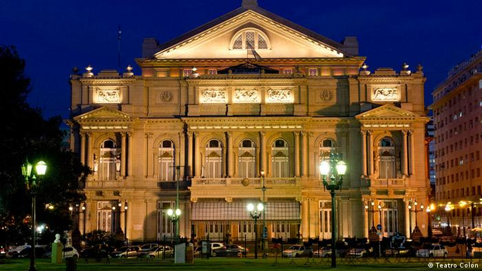 Image result for images Teatro Colon at night