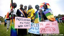 First Gay Pride in Kampala in August 2012. </p> <p>Foto: Anne Ackermann