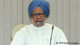 Indian Prime Minister Manmohan Singh attends a Full Planning Commission meeting at his residence in New Delhi on September 15, 2012. (Photo: RAVEENDRAN/AFP/GettyImages)