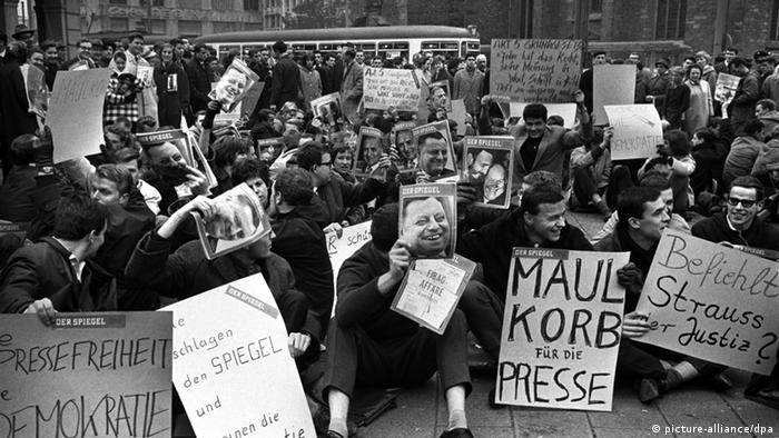 Spiegel Affäre Demonstration Pressefreiheit