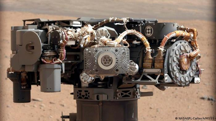 Der Marsroboter Curiosity.  Copyright: Quelle: http://www.nasa.gov/mission_pages