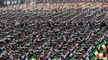 Iran Truppe Militär Parade Revolutionsgardisten Militärparade Tehran