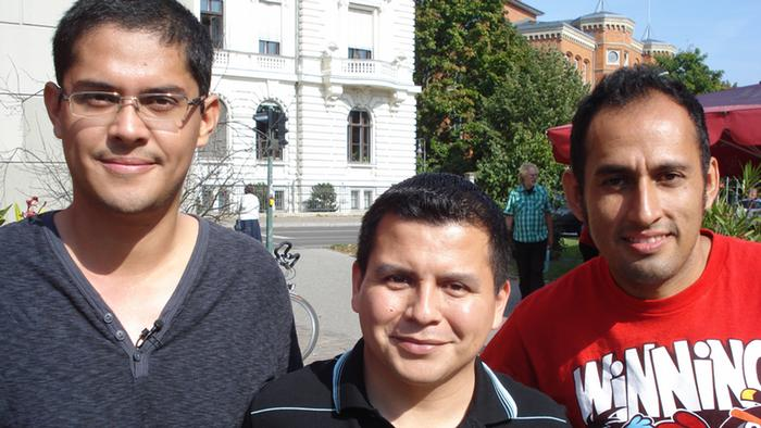 Mauricio, David and Omar from Mexico in Potsdam