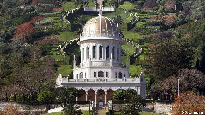A view of the Shrine of Bab at the Baha'i World Center in Haifa, Israel. (Getty Images)
