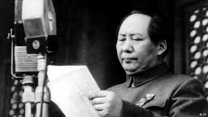 China Flash-Galerie 60 Jahre Volksrepublik 1949 Mao Tsetung proklamiert die Volksrepublik China (AP)