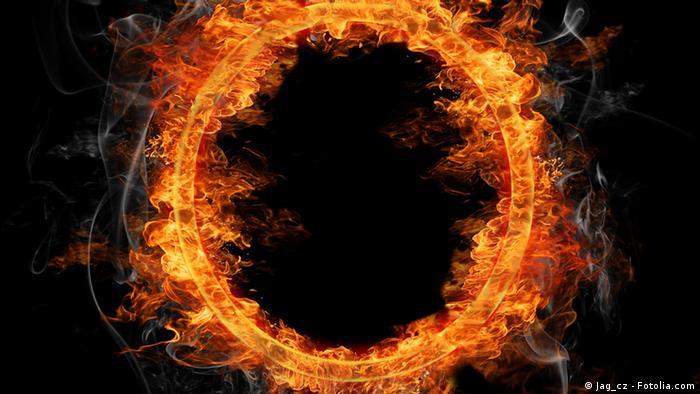 Hölle Feuer Symbolbild