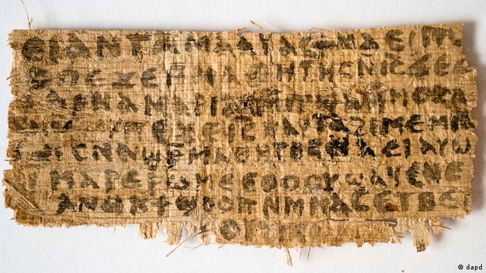 Papyrus, der belegen soll, dass Jesus verheiratet war (Foto: AFP)