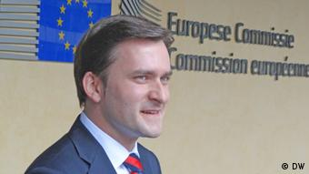 Autor: unsere Korrespondentin Marina Maksimovic heute 24.9.12 in Brüssel DSC02384.jpg- Nikola SELAKOVIC, Serbian Minister for Justice and Public Administration