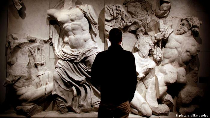 A part of the Pergamon Altar (photo: Oliver Berg dpa/lnw)