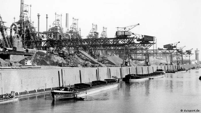 Nekadašnja luka čeličane Krupp na Rajni