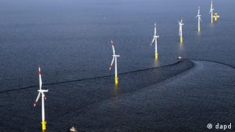 Offshore wind farm in northern Germany