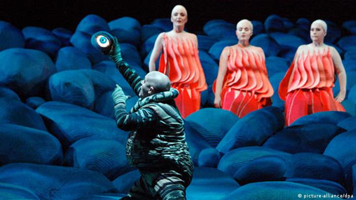 This production of Wagner's Rheingold was performed at the 2009 Bayreuth Festival , Photo: Bayreuther Festspiele GmbH/Enrico Nawrath dpa/lby, Copyright: dpa - Bildfunk