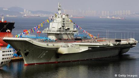 This photo taken on September 24, 2012 shows China's first aircraft carrier, a former Soviet carrier called the Varyag (Photo:STR/AFP/GettyImages)