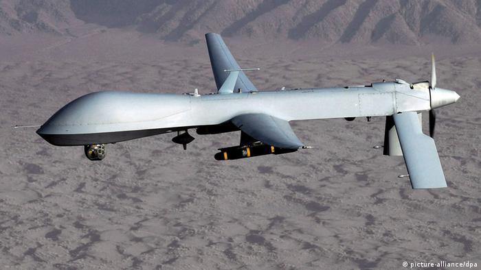 MQ-1 Predator drone (Photo: EPA/LT. COL. LESLIE PRATT+++(c) dpa - Bildfunk+++ )