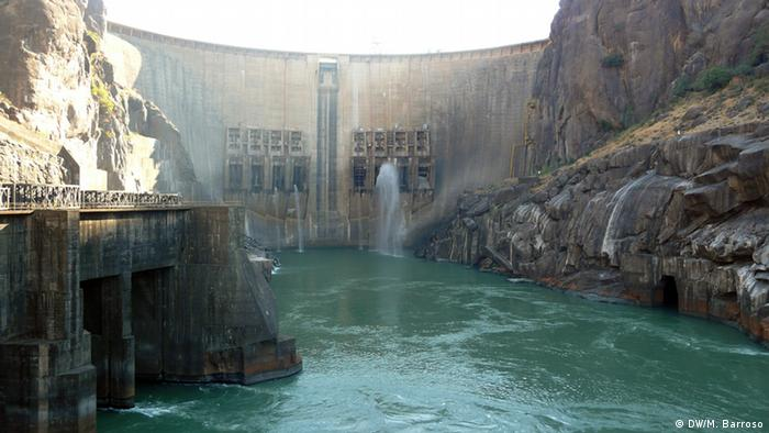 The Cahora Bassa Dam in Mozambique