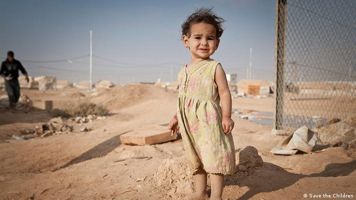 A Syrian child at a refugee camp in Jordan Copyright: Save the Children