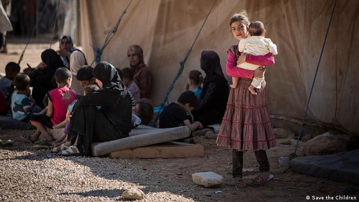Syrien Flüchtlinge Kinder Za'atari Camp Jordanien Save the Children