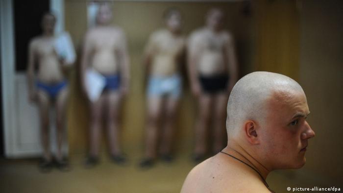 Российские призывники (фото из архива)