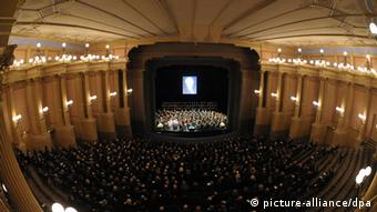 Wide view of the famous Bayreuth Festival Theater inside Copyright: David Ebener dpa/lby