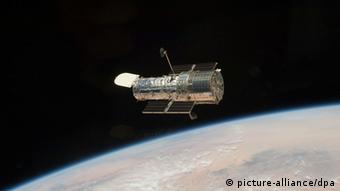 A picture dated May 19, 2009 shows the Hubble Space Telescope. Photo: Nasa/dpa/Handout