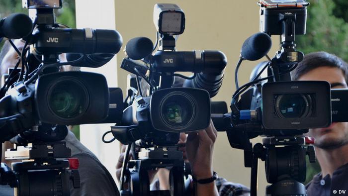 Symbolbild Pressefreiheit in Georgien (DW)