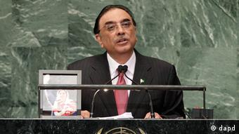 Pakistani President Asif Ali Zardari addresses the 67th session of the United Nations General Assembly (Photo: AP Photo/Frank Franklin II)