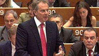Tony Blair im Europaparlament