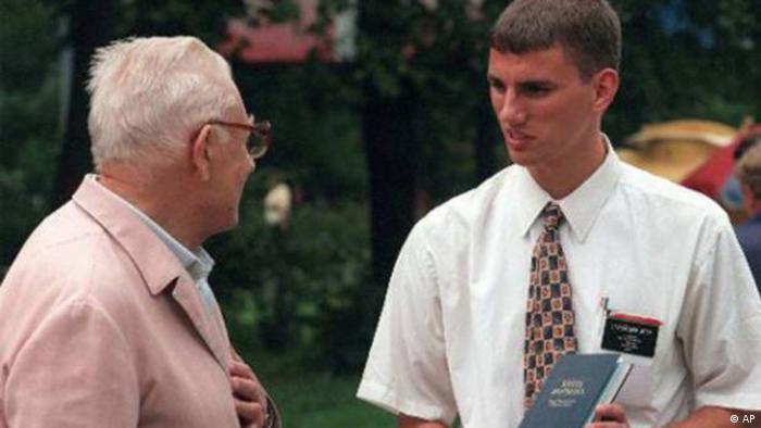 Ein Mormone missioniert