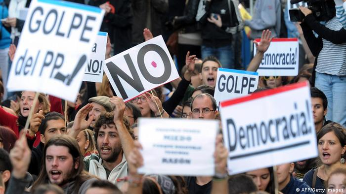 Protesmarsch in Madrid (Foto: AFP)
