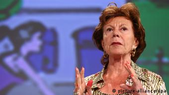 European Commission vice President in charge of the Digital Agenda Neelie Kroes (photo:EPA/JULIEN WARNAND)