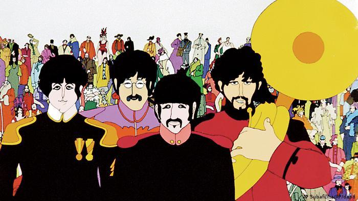 50 Jahre Beatles Yellow Submarine Ausschnitt Grafik (Foto: Subafilms/AP/DAPD)