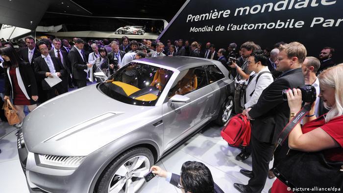 Audi Crosslane Coupe на автосалоне в Париже