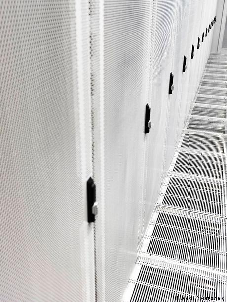 Inside a data center at a former NATO base at Keflavik, Iceland