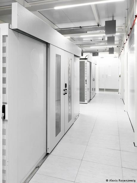 Inside a data center at a former NATO base at Keflavik, Iceland