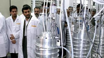 Mahmoud Ahmadinedjad in uranium enrichment plant Photo: Fars