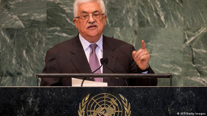 Mahmoud Abbas, Chairman of the Executive Committee of the Palestinian Liberation Organization and President of the Palestinian Authority, addresses to the 67th United Nations General Assembly meeting September 27, 2012 at the United Nations in New York. AFP PHOTO / DON EMMERT (Photo credit should read DON EMMERT/AFP/GettyImages)