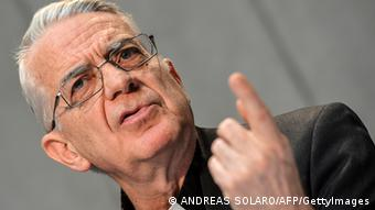 Vatican spokeman Federico Lombardi speaks at a press conference at the Vatican on August 13, 2012 . Photo: ANDREAS SOLARO/AFP/GettyImages